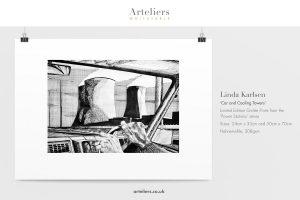 Linda Karlsen - Car and Cooling Towers - Giclée print