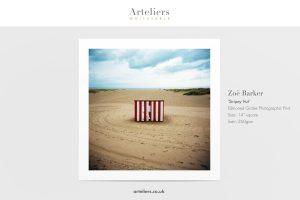Zoe Barker - Stripey Hut - Giclée print