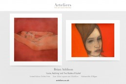Brian Addison - Louise Reclining and Two Shades of Scarlet